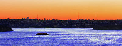 Photograph - Manly Ferry In Sunset by Miroslava Jurcik