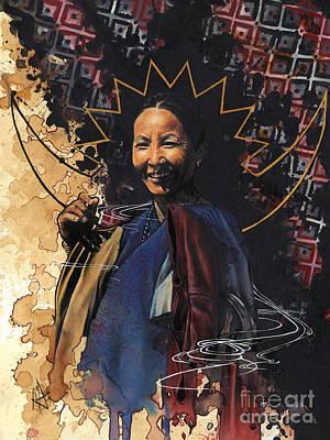 Nepali Painting - Manmaya  by Anamika Gurung