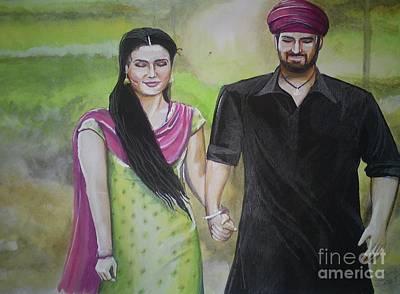 Kama Sutra Painting - Mannata by Sandeep Kumar Sahota