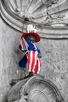 Independance Day Photograph - Manneken Pis On The Fourth Of July by Georgia Fowler