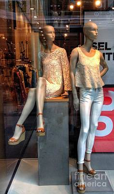 Photograph - Mannequin Display At Liverpool One 2 by Joan-Violet Stretch