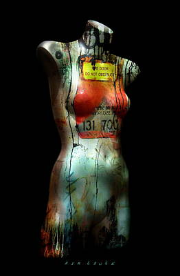 Art Print featuring the painting Mannequin Graffiti by Kim Gauge