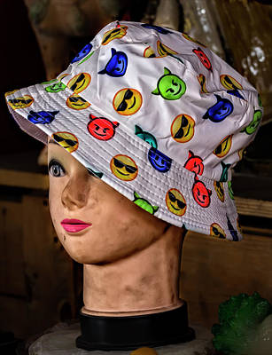 Mannequin Head And Hat Art Print by Robert Ullmann