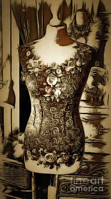 Royalty Free Images Digital Art - Mannequin In Ambiance by Catherine Lott