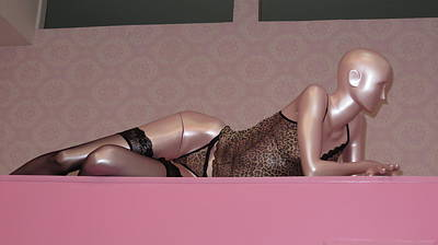 Suggestive Photograph - Mannequin On Pink by Daniel Gomez