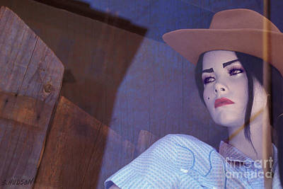 Photograph - mannequin portraits surrealism - Cowgirl by Sharon Hudson
