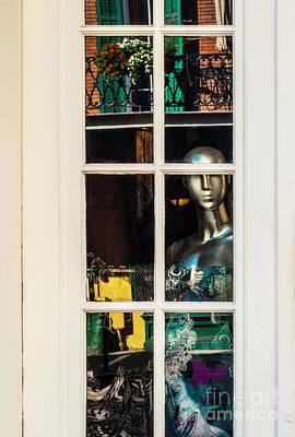 Photograph - Mannequin Reflecting by Frances Ann Hattier