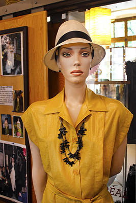 Photograph - Mannequin With Yellow Dress And Hat by Carlos Diaz