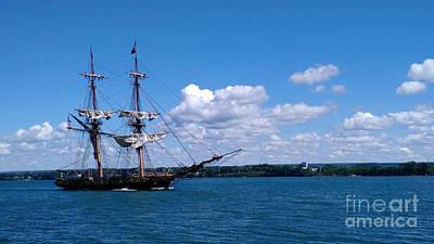 Photograph - Manning The Sails by E B Schmidt