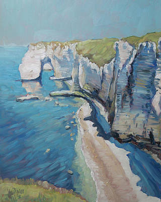 Painting - Manneport, The Cliffs At Etretat by Nop Briex