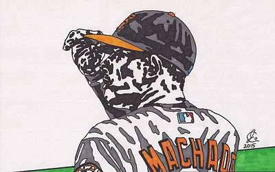 Drawing - Manny Machado 1 by Jeremiah Colley