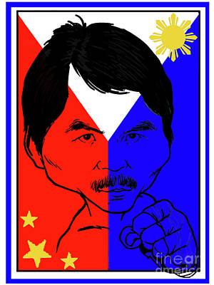 Manny Pacquiao Iron Fist Art Print