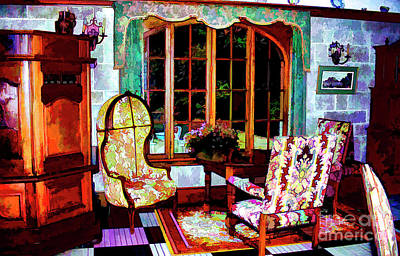 Photograph - Manoir Interior by Rick Bragan