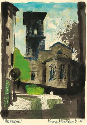Painting - Manosque  Provence Notre Dame De Romigier Print by Martin Stankewitz