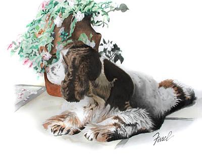 Painting - Mans Best Friend by Ferrel Cordle