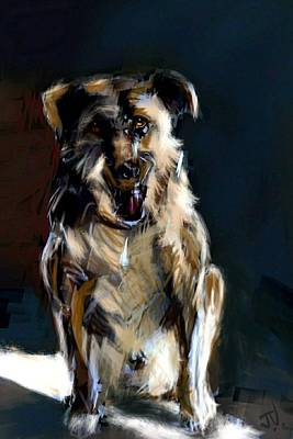 Painting - Man's Best Friend by Jim Vance