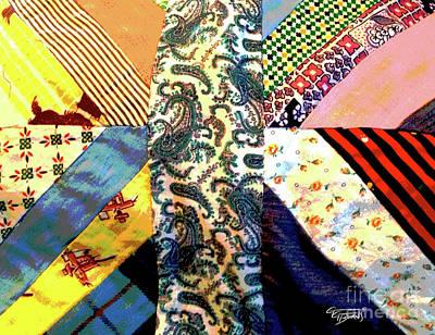 Mans Shirt Quilt Art Print
