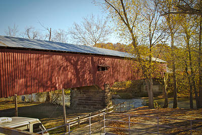 Photograph - Mansfield Covered Bridge by Jack R Perry