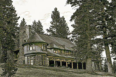 Photograph - Mansion By The Lake by Maria Coulson
