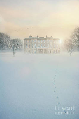 Historic Snowy Mansion Photograph - Mansion House In Snow by Lee Avison