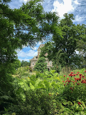 Photograph - Mansion Through The Trees by Arlene Carmel