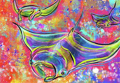 Artichoke Digital Art - Mantas by Morgan Richardson