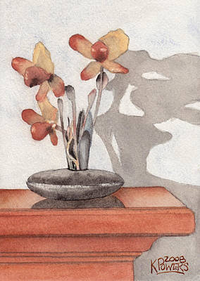 Painting - Mantel Flowers by Ken Powers