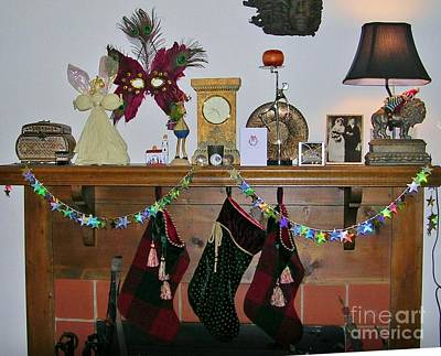 Photograph - Mantel With Mask by Rosanne Licciardi