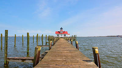 Photograph - Manteo Lighthouse by Jack Nevitt