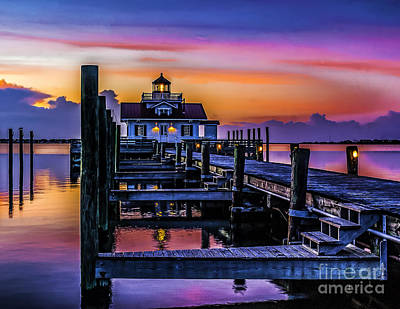 Manteo Lighthouse Sunrise Art Print by Nick Zelinsky