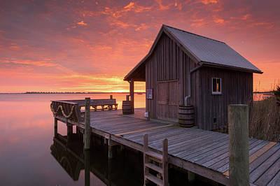 Manteo Waterfront Fisherman's Net House North Carolina Obx Art Print by Mark VanDyke