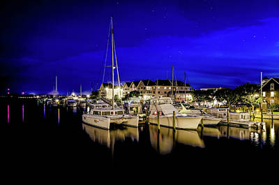 Photograph - Manteo Waterfront Marina II Hdr by Greg Reed