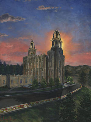 Lds Painting - Manti Sunrise by Jeff Brimley