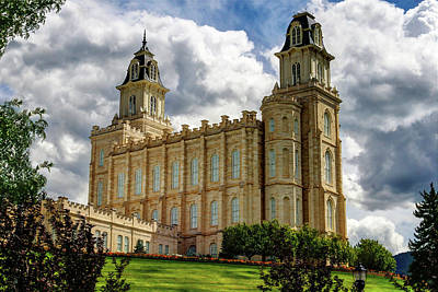 Photograph - Manti Temple After Rainstorm by Dane Shakespear