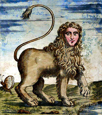 Manticore Art Print by Photo Researchers