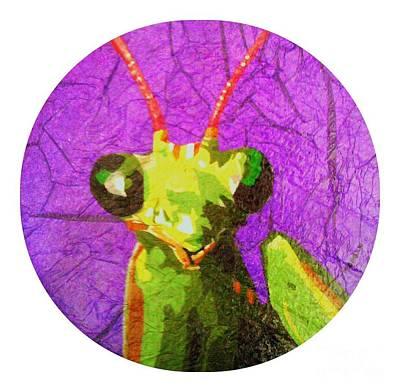 Painting - Mantis religiosa by Morgan Veissiere