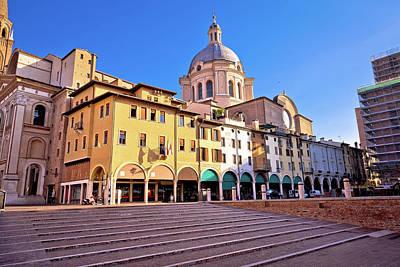 Photograph - Mantova City Piazza Delle Erbe View by Brch Photography