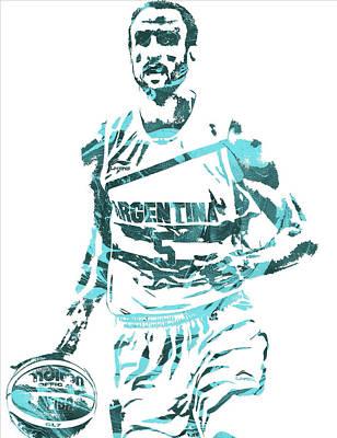 Manu Ginobili Argentina Pixel Art Art Print