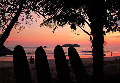 Photograph - Manuel Antonio Coastline At Sunset by Carolyn Derstine