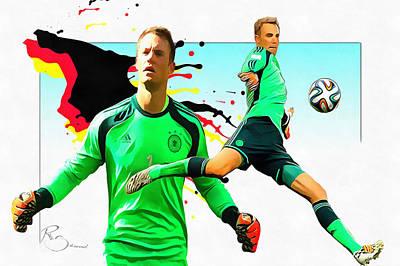 Goalkeeper Digital Art - Manuel Peter Neuer by Ramo Sabanovic