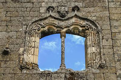 Photograph - Manueline-style Window Frame At Belmonte Castle, Portugal by Alexandre Rotenberg