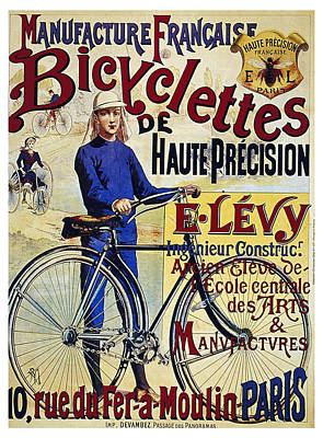 Royalty-Free and Rights-Managed Images - Manufacture Francaise Bicyclettes - Vintage French Advertising Poster by Studio Grafiikka