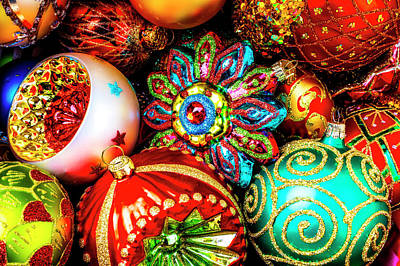 Photograph - Many Beautiful Christmas Ornaments by Garry Gay