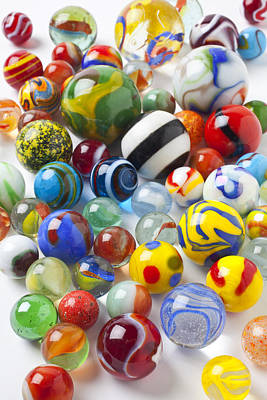 Amusing Photograph - Many Beautiful Marbles by Garry Gay