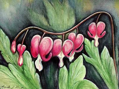 Painting - Many Bleeding Hearts by Linda Nielsen