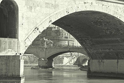 Photograph - Many Bridges Of The Tiber River by JAMART Photography