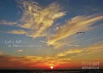Many Colored Sunset Art Print by John Groeneveld
