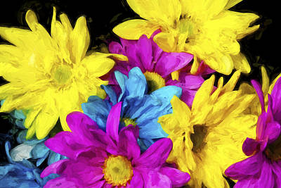 Floral Digital Art Digital Art Digital Art - Many Colors II by Jon Glaser