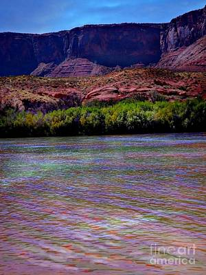 Digital Art - Many Colors In Colorado River by Annie Gibbons
