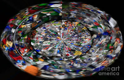 Photograph - Many Coloured Spinning Oval by Nareeta Martin